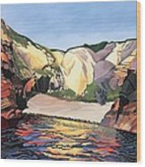 Ramsey Island - Land And Sea No 2 Wood Print