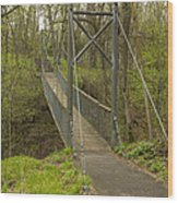 Ramsey Swing Bridge 2 Wood Print
