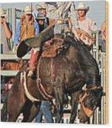 Ranch Bronc Rider Wood Print