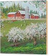Ranch Home Wood Print