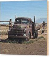 Ranch Truck Wood Print
