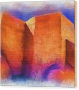 Ranchos Nave - Watercolor Wood Print