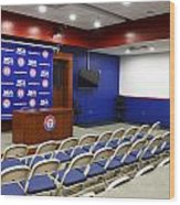 Rangers Press Room Wood Print by Ricky Barnard