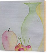 Ranier Cherries And A Pink Lady Wood Print