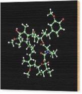 Rapamycin Immunosuppressant Drug Molecule Wood Print