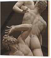Rape Of Sabine Women 2 Wood Print