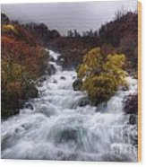 Rapid Waters Wood Print
