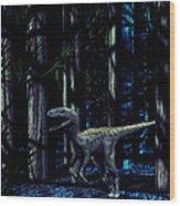 Raptor Dinosaur Wood Print