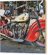 Rare Indian Motorcycle Wood Print
