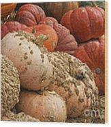 Rare Pumpkins Wood Print