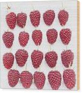 Raspberry Formation Wood Print