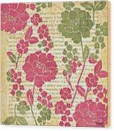 Raspberry Sorbet Floral 2 Wood Print