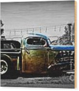 Rat Rod Profile Wood Print