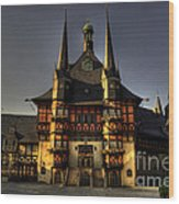 Rathaus At Wernigerode Wood Print