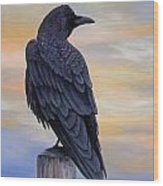 Raven Beauty Wood Print