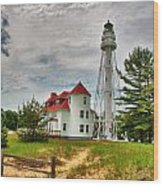 Rawley Point Lighthouse Wood Print