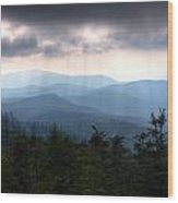 Rays Of Light Over The Great Smoky Mountains Wood Print