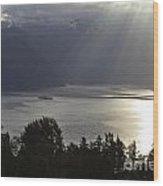 Rays Of Sunlight Wood Print