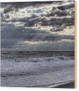 Rays Over The Atlantic Wood Print