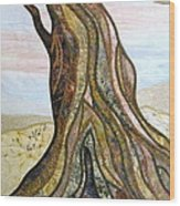 Reaching Wood Print by Doria Goocher