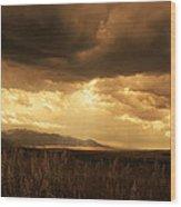Reaching The Rockies Wood Print