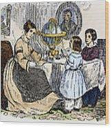 Reading, 1866 Wood Print