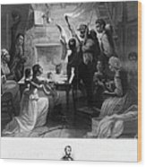 Reading Emancipation Proclamation Wood Print