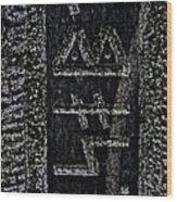 Reading Stones Wood Print