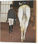 Ready For The Dressage Lesson Wood Print