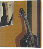 Ready To Play Guitar Wood Print