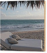 Ready To Relax On A Tropical Beach Wood Print by Karen Lee Ensley