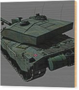 Rear View Of A British Challenger II Wood Print by Rhys Taylor
