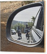 Rear View Riders Wood Print