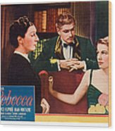 Rebecca, From Left Judith Anderson Wood Print by Everett