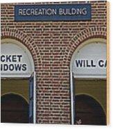 Rec Hall Wood Print