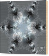 Recharge - The Beauty Of Simple Fractal Wood Print by Vidka Art