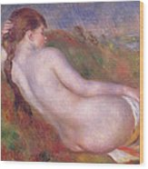 Reclining Nude In A Landscape Wood Print