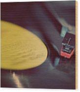 Record Player Wood Print