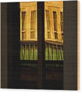 Rectangular Reflection Wood Print by Aimelle