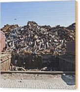 Recycle Dump Site Or Yard For Steel Wood Print