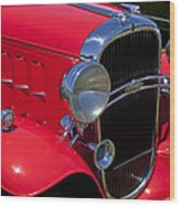 Red 1932 Oldsmobile Wood Print