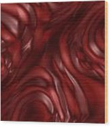 Red Abstract Texture Wood Print