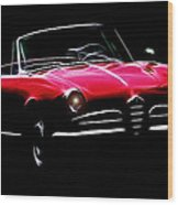 Red Alfa Romeo 1600 Giulia Spider Wood Print by Steve K