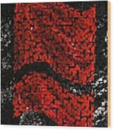 Red And Black Abstract Wood Print