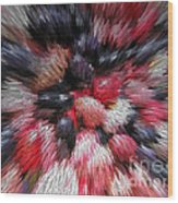Red And Black Explosion #01 Wood Print