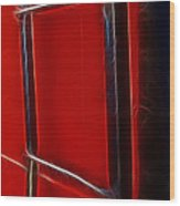 Red And Black Train Ladder Wood Print