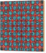 Red And Blue Abstract Wood Print