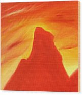 Red And Orange Wood Print