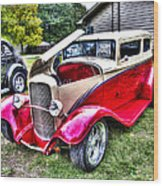 Red And White Chop Top Wood Print
