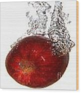 Red Apple Dropped Wood Print